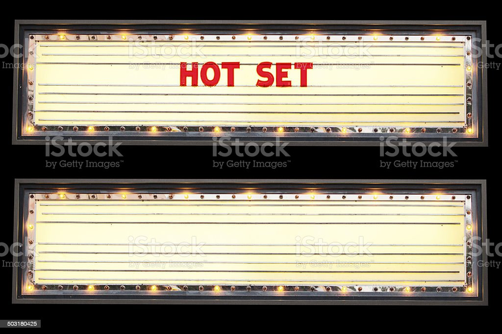 Hot Set Marquee stock photo