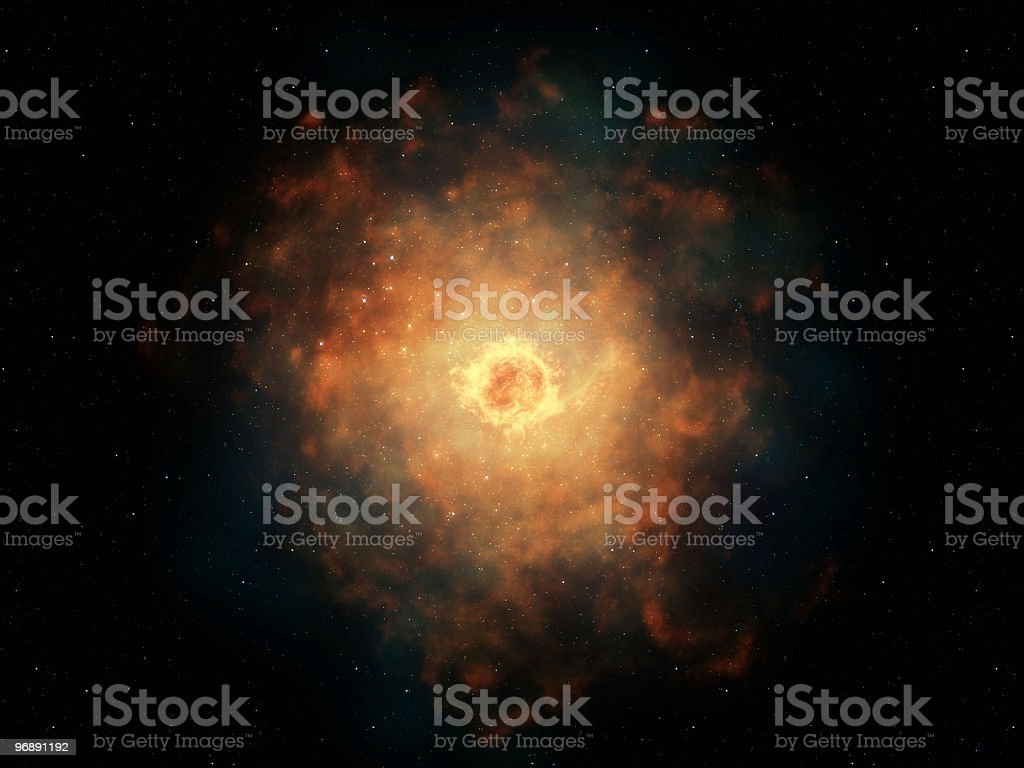 Hot Space Nebula royalty-free stock photo