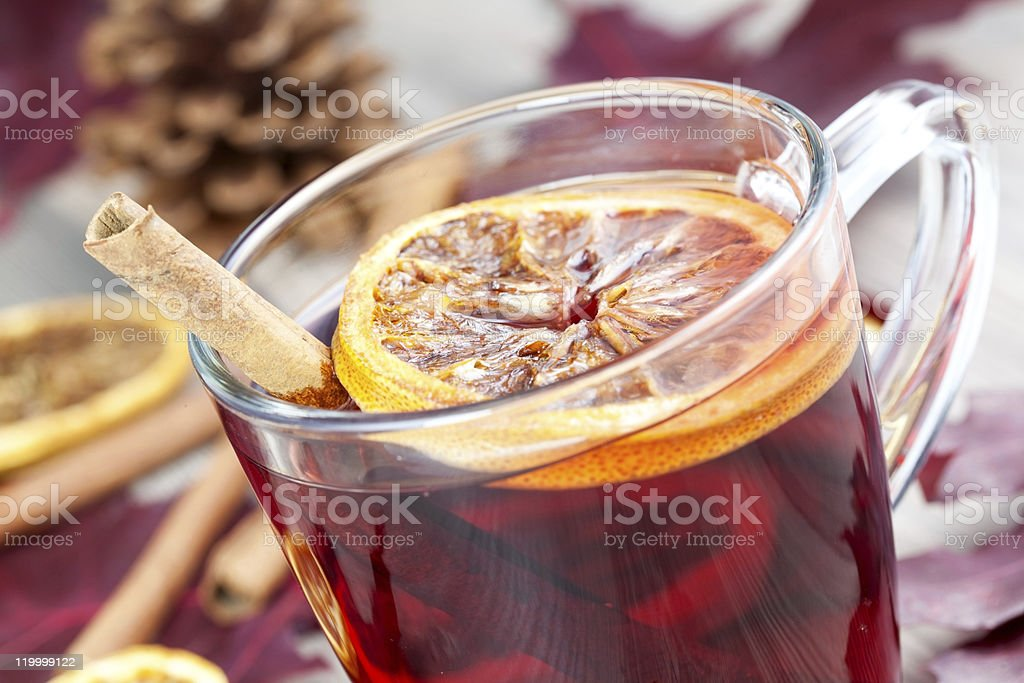hot spiced wine royalty-free stock photo