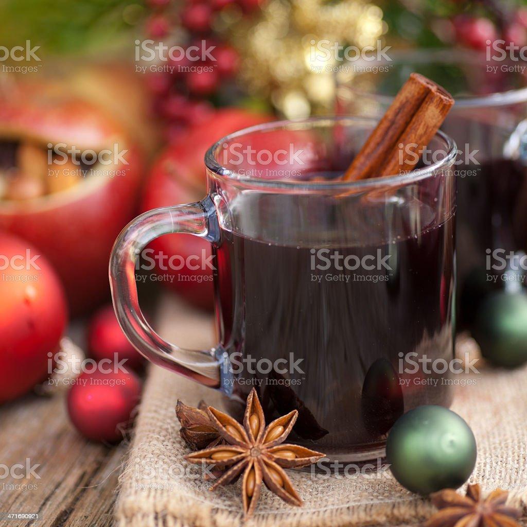Hot spiced wine royalty-free stock photo