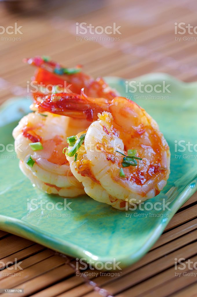 Hot & Spicy Prawns royalty-free stock photo