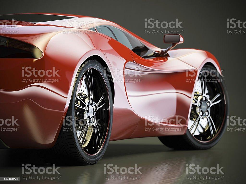 Hot Sports Car royalty-free stock photo
