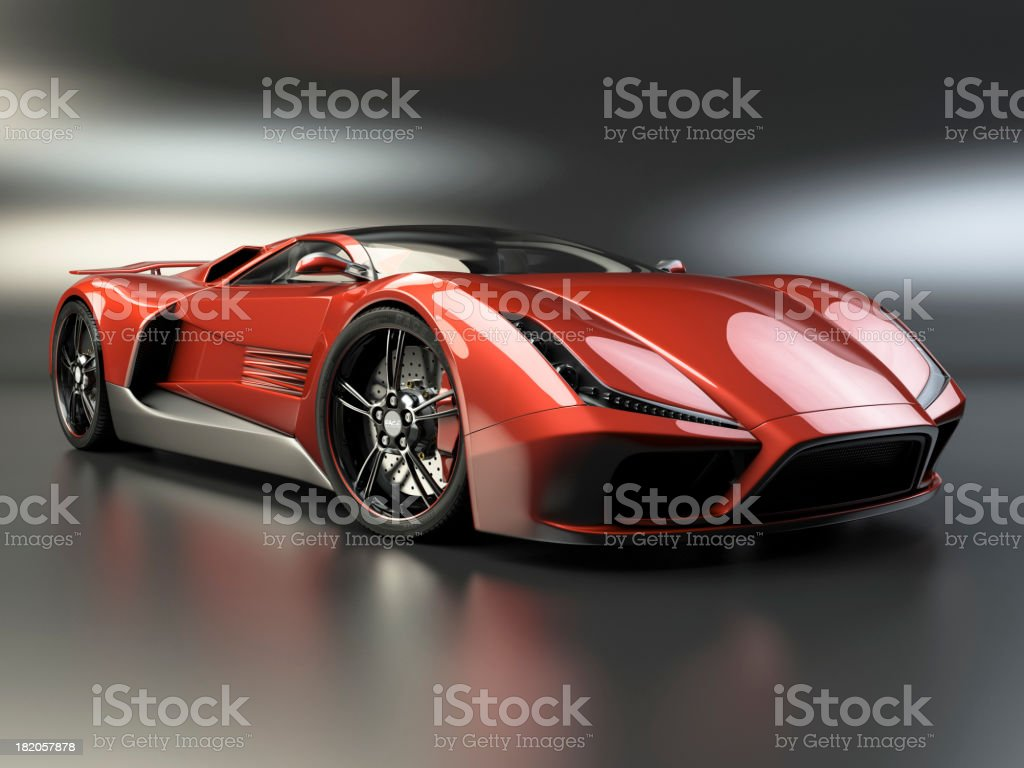 Hot Sports Car stock photo