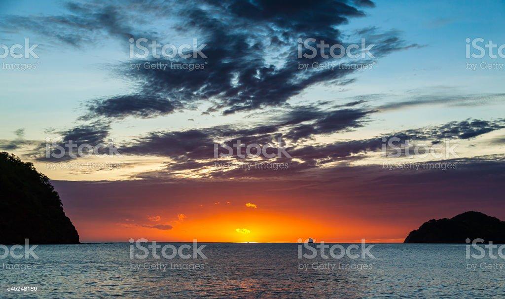Hot Spot Sunset stock photo