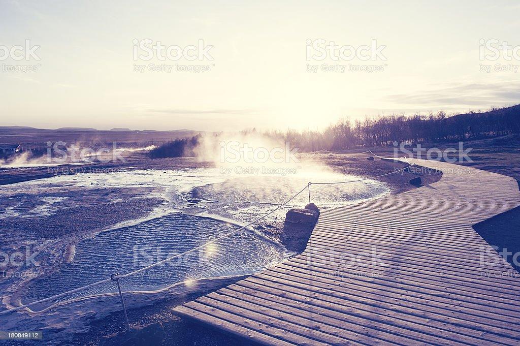 Hot Spring by Geysir royalty-free stock photo