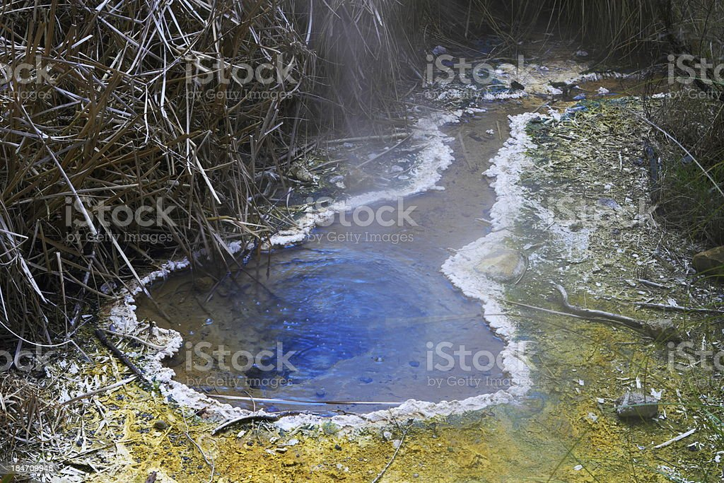 Hot spring crater stock photo