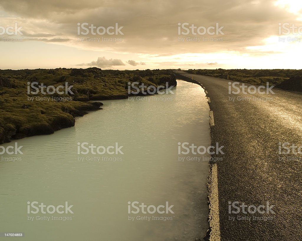 Hot Spring Highway royalty-free stock photo