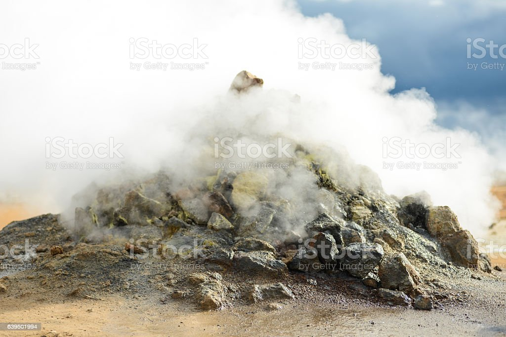 hot spring in iceland stock photo