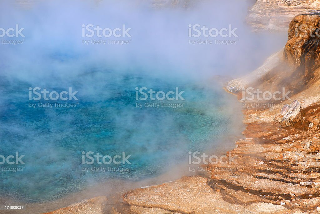 Hot Spring in Yellowstone royalty-free stock photo