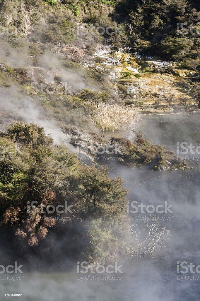 hot spring lake in Waimangu royalty-free stock photo