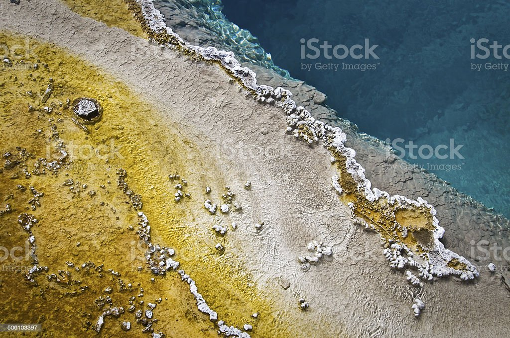 Hot spring near Lake Yellowstone, Yellowstone National Park stock photo