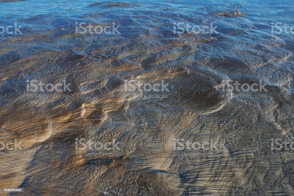 Hot Spring Sedimentation stock photo
