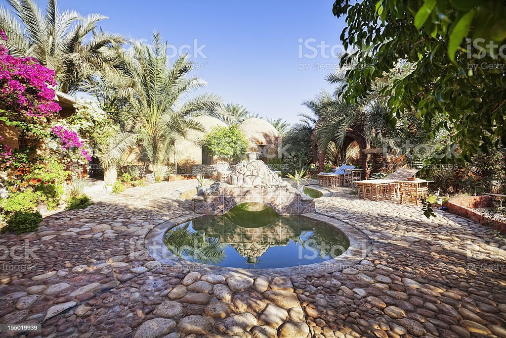 Hot Spring - Siwa stock photo