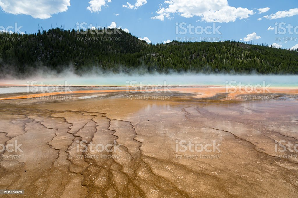 Hot Spring, Yellowstone National Park stock photo