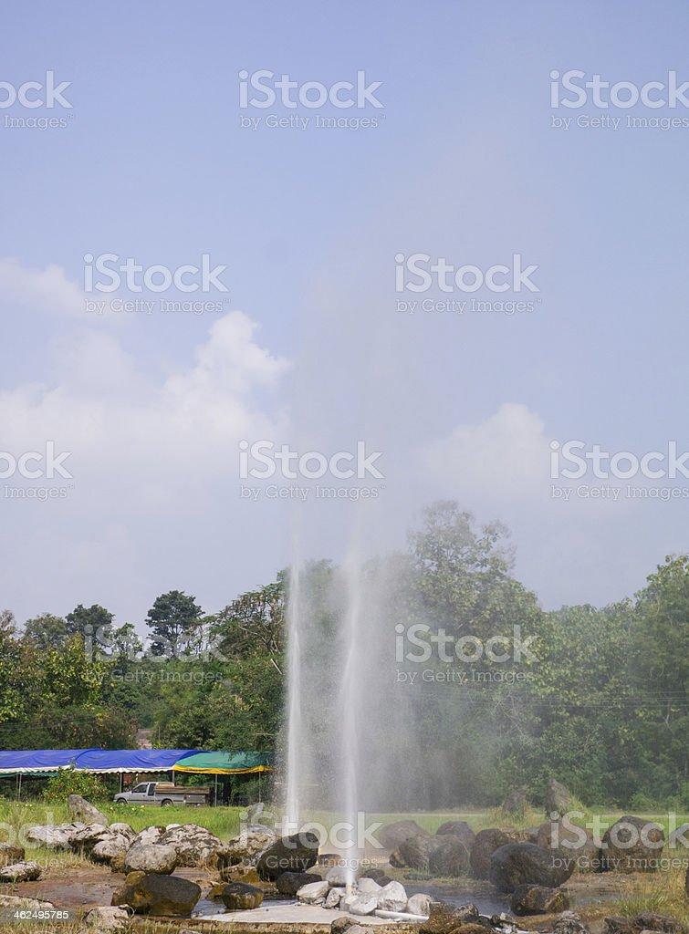 hot springs, chiangmai, thailand royalty-free stock photo