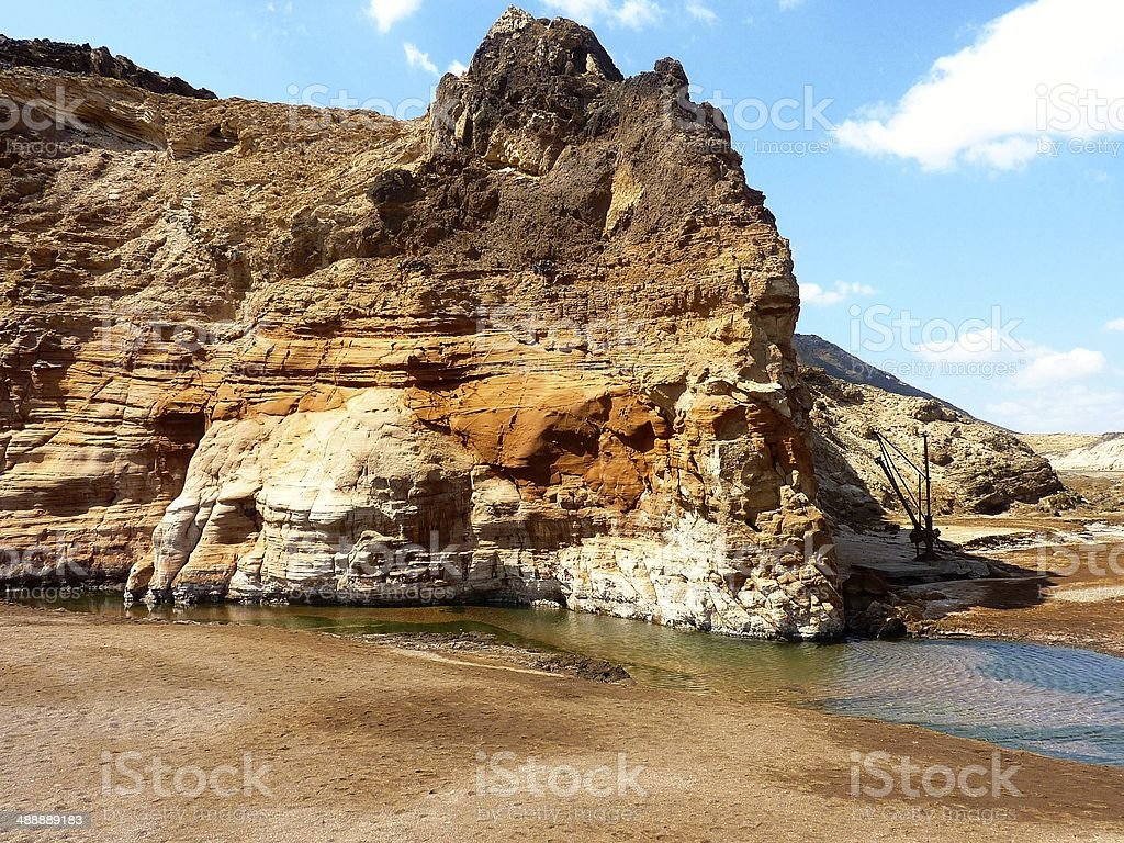 Hot Springs in Djibouti royalty-free stock photo