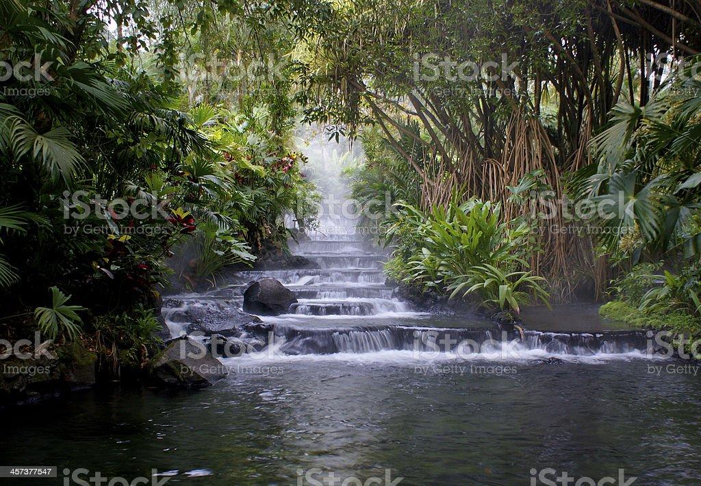 Hot Springs in La Fortuna, Costa Rica near Arenal Volcano stock photo