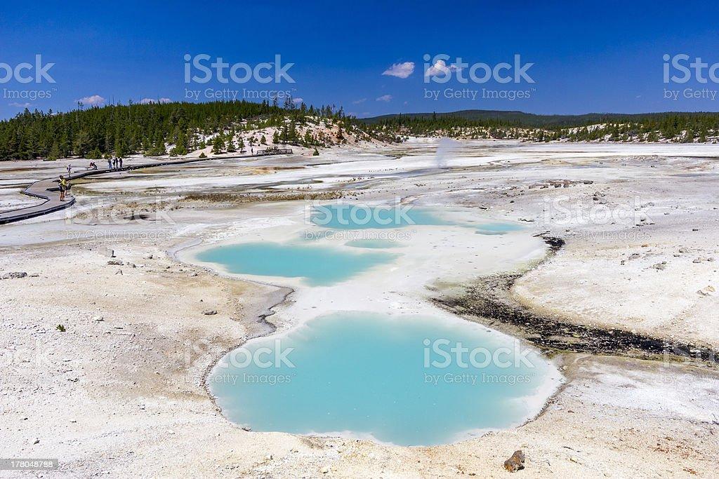 Hot Springs in Norris Geyser Basin, Yellowstone stock photo