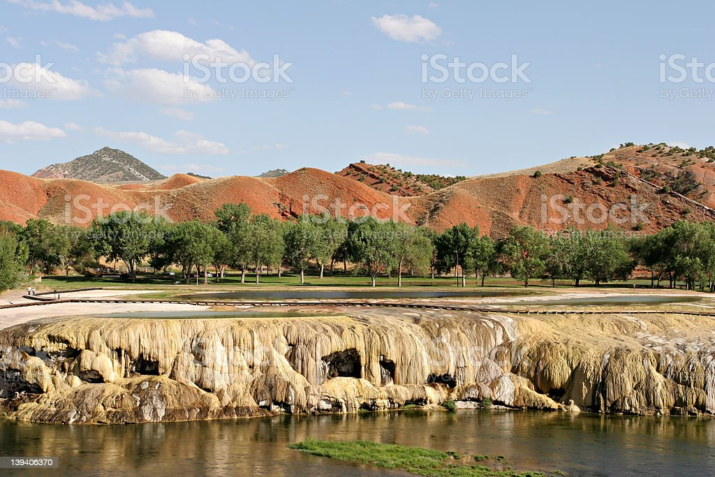 hot springs in thermopolis stock photo