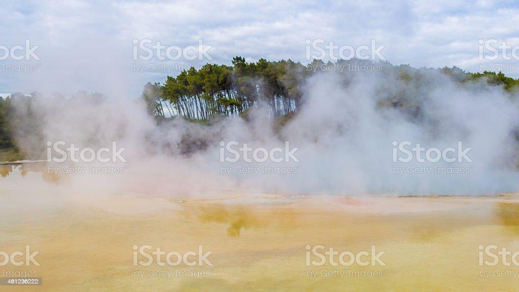 Hot springs, New Zealand stock photo