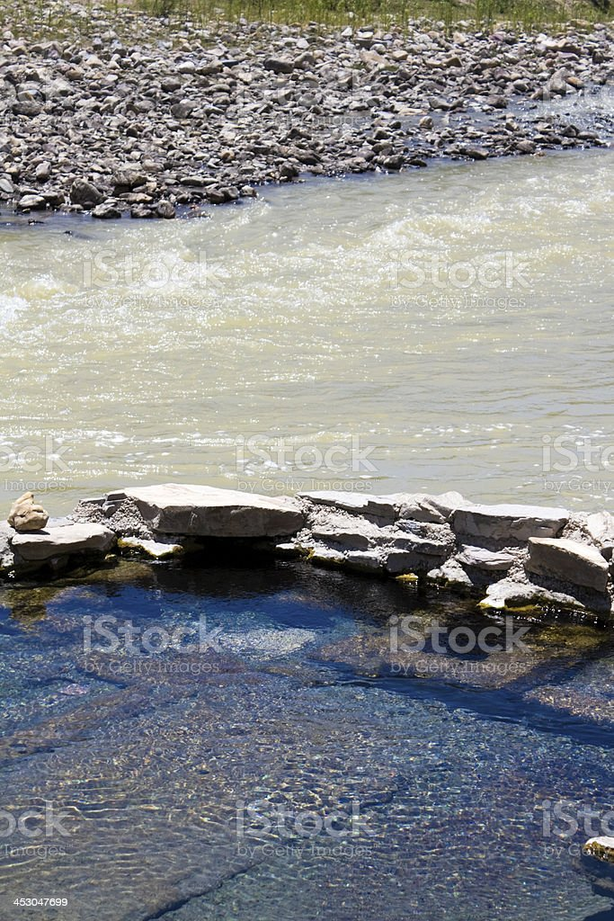 Hot Springs pool in Big Bend NP royalty-free stock photo