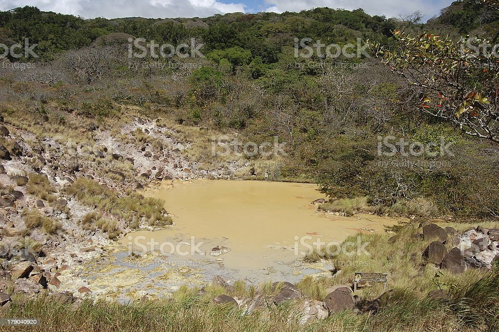 Hot springs, Rincon De La Vieja national park, Costa Rica royalty-free stock photo