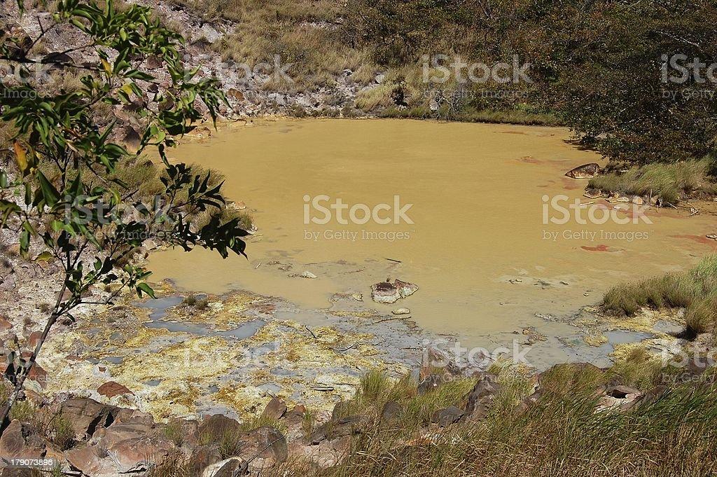 Hot springs, Rincon De La Vieja national park, Costa Rica royalty-free stock photo