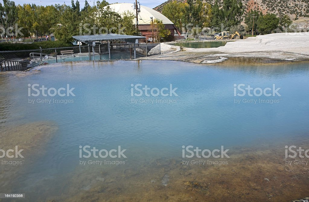 Hot Springs State Park in Wyoming stock photo