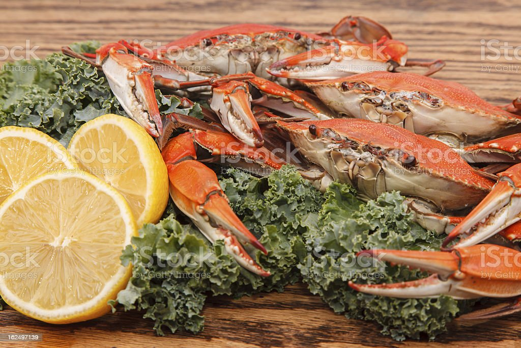 Hot steamed Crabs royalty-free stock photo
