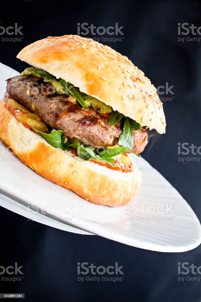 Hot Steamy Burger stock photo