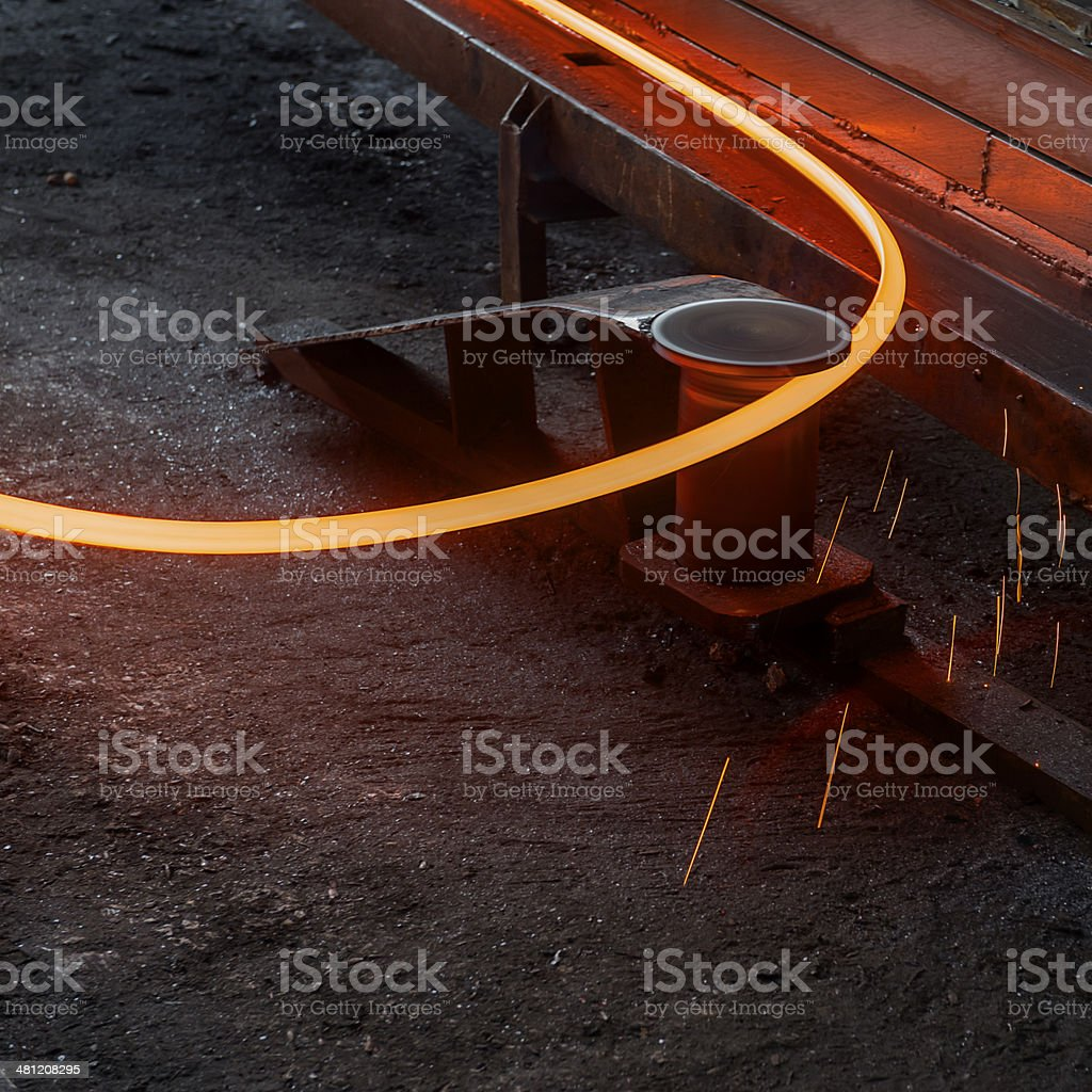 Hot steel bar stock photo