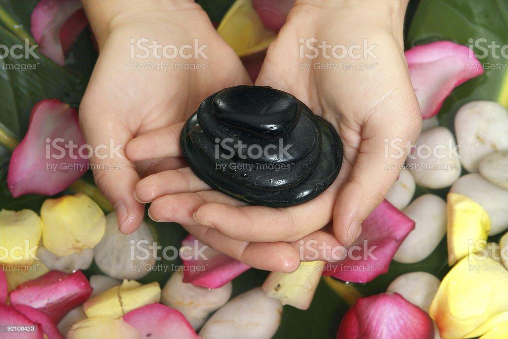 Hot Stone Massage royalty-free stock photo