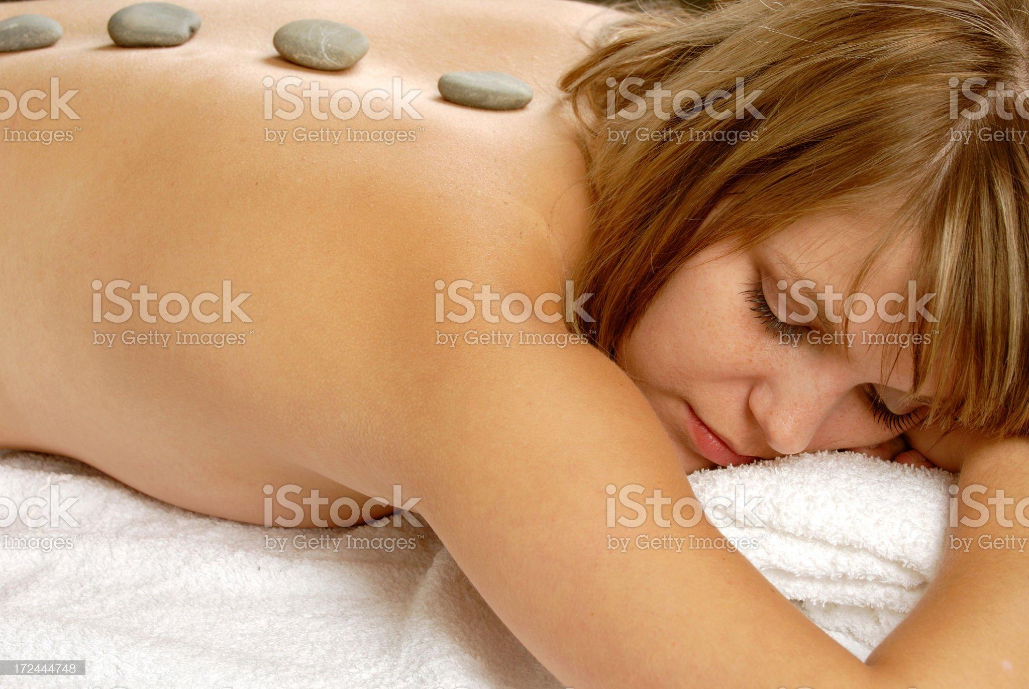 Hot stone royalty-free stock photo