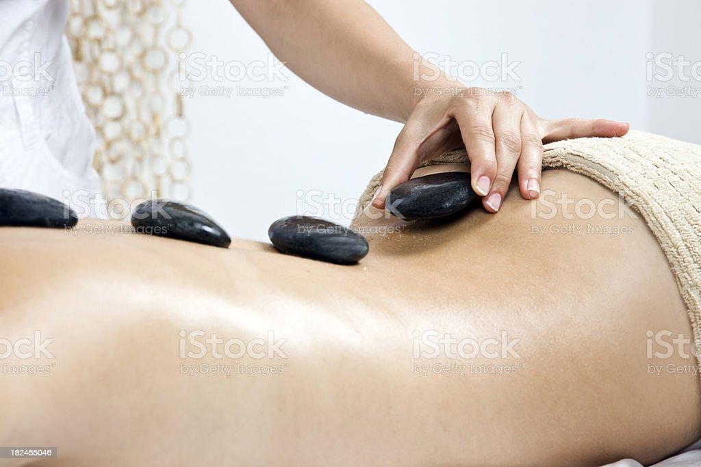 Hot Stone Treatment royalty-free stock photo