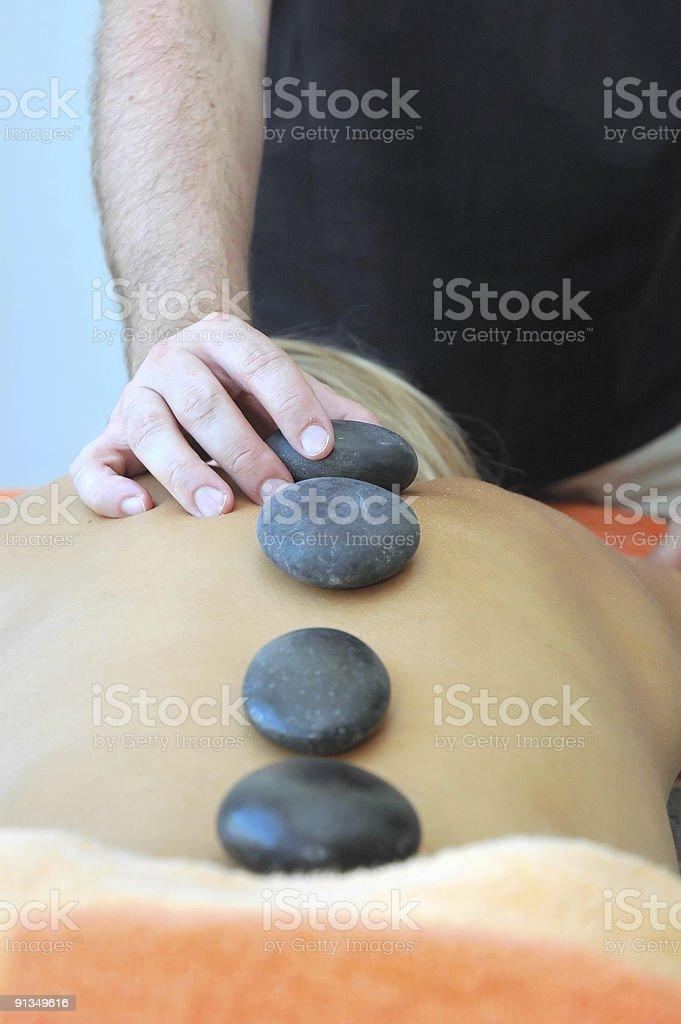 Hot stones massage royalty-free stock photo