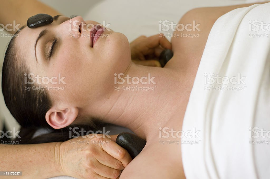 hot stones massage treatment royalty-free stock photo