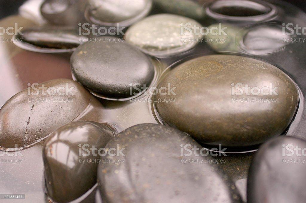 Hot stones stock photo