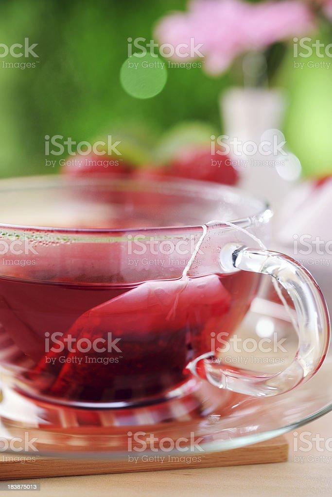 Hot strawberry tea royalty-free stock photo