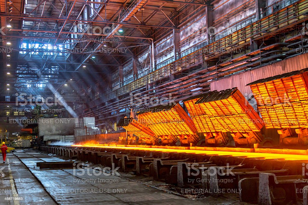 Hot strip mill for rolling steels stock photo