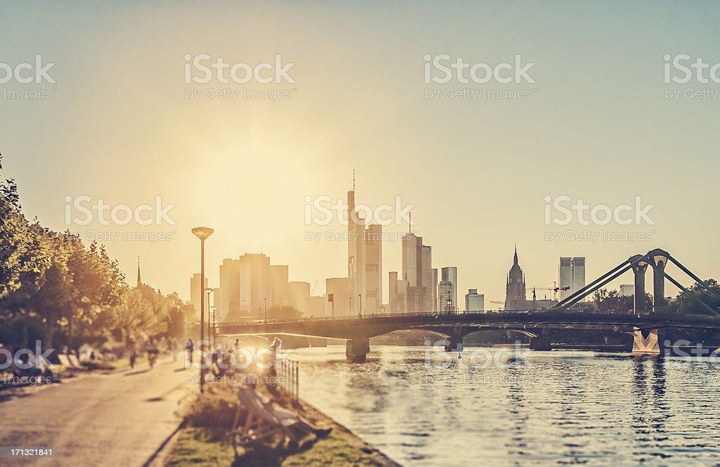 Hot summer day - Frankfurt am Main stock photo