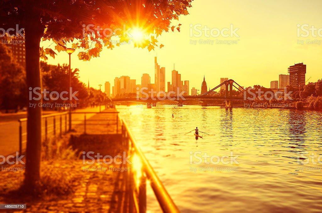 Hot summer day in Frankfurt am Main stock photo