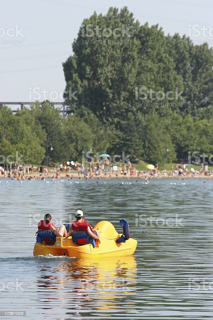 Hot summer day stock photo