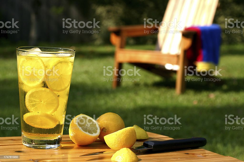 Hot Summer Lemonade stock photo