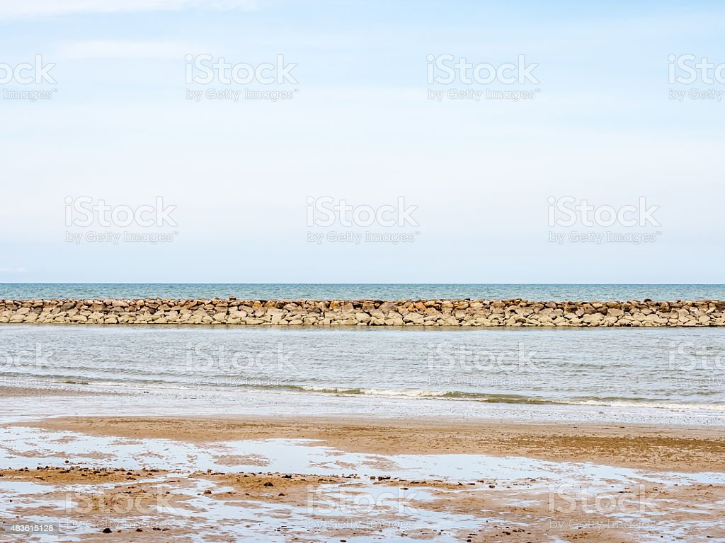 Hot summer sky and sea on holiday royalty-free stock photo