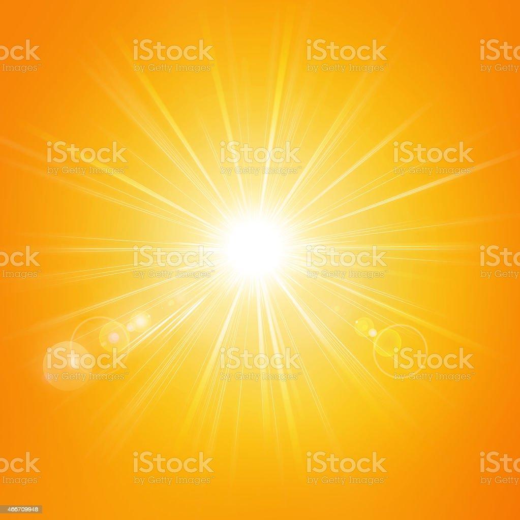 Hot summer sunlight stock photo