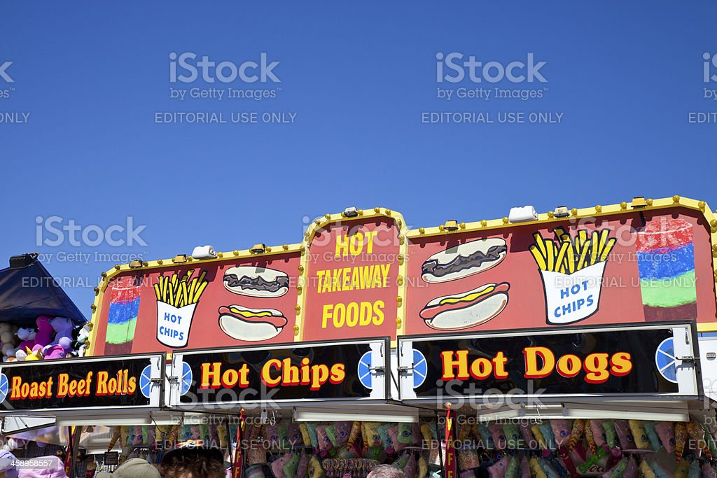 Hot Takeaway Food Store royalty-free stock photo