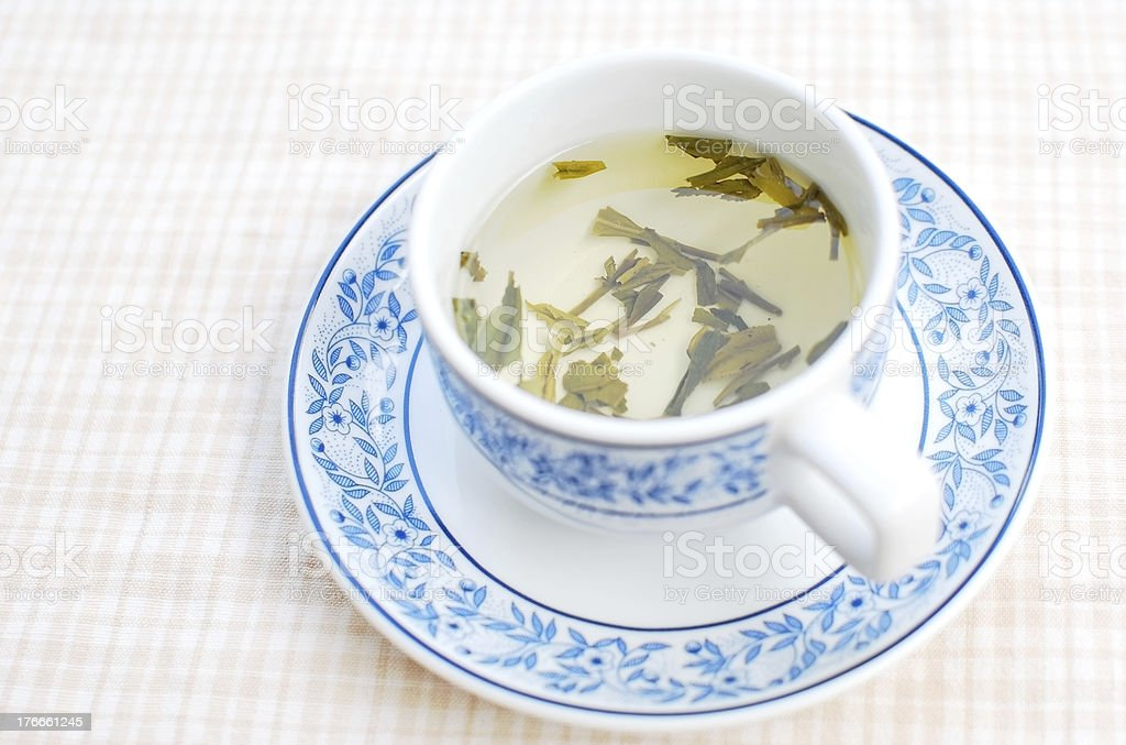 Hot tea ready for drink royalty-free stock photo