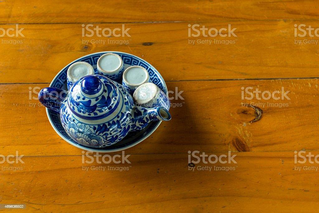 Hot tea set royalty-free stock photo
