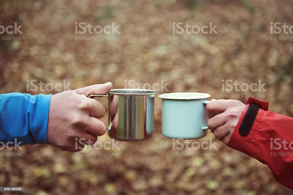 Hot tea to warm up stock photo