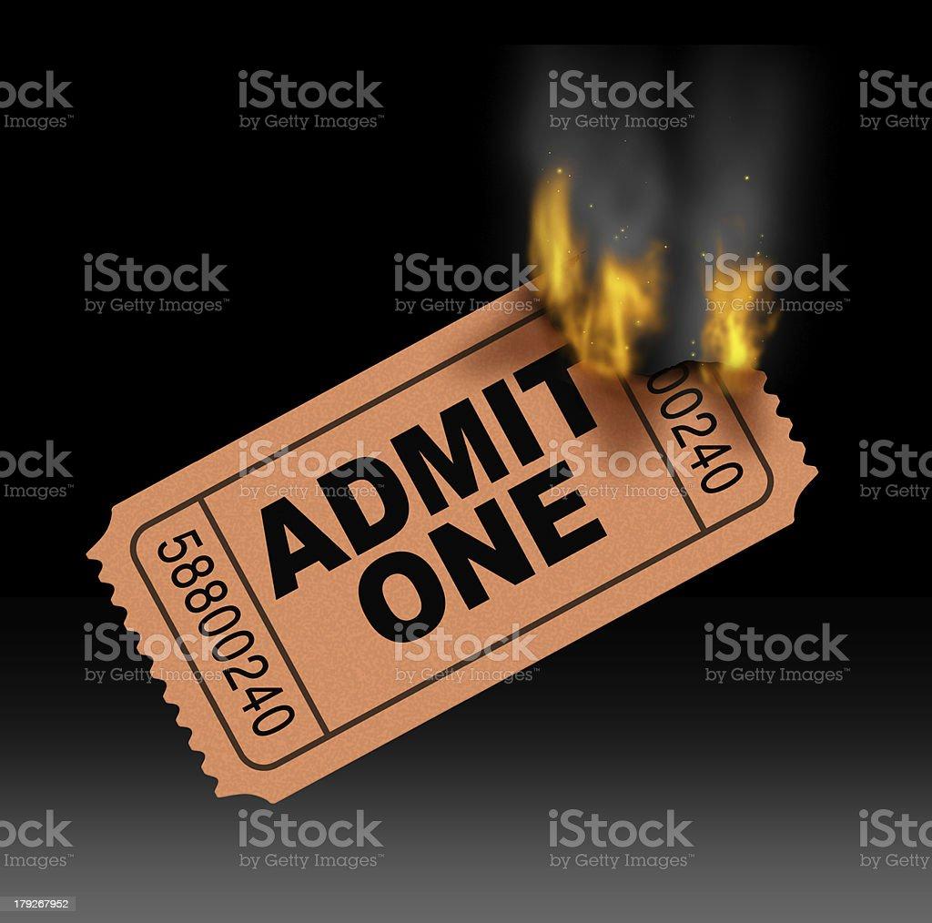 Hot Ticket stock photo